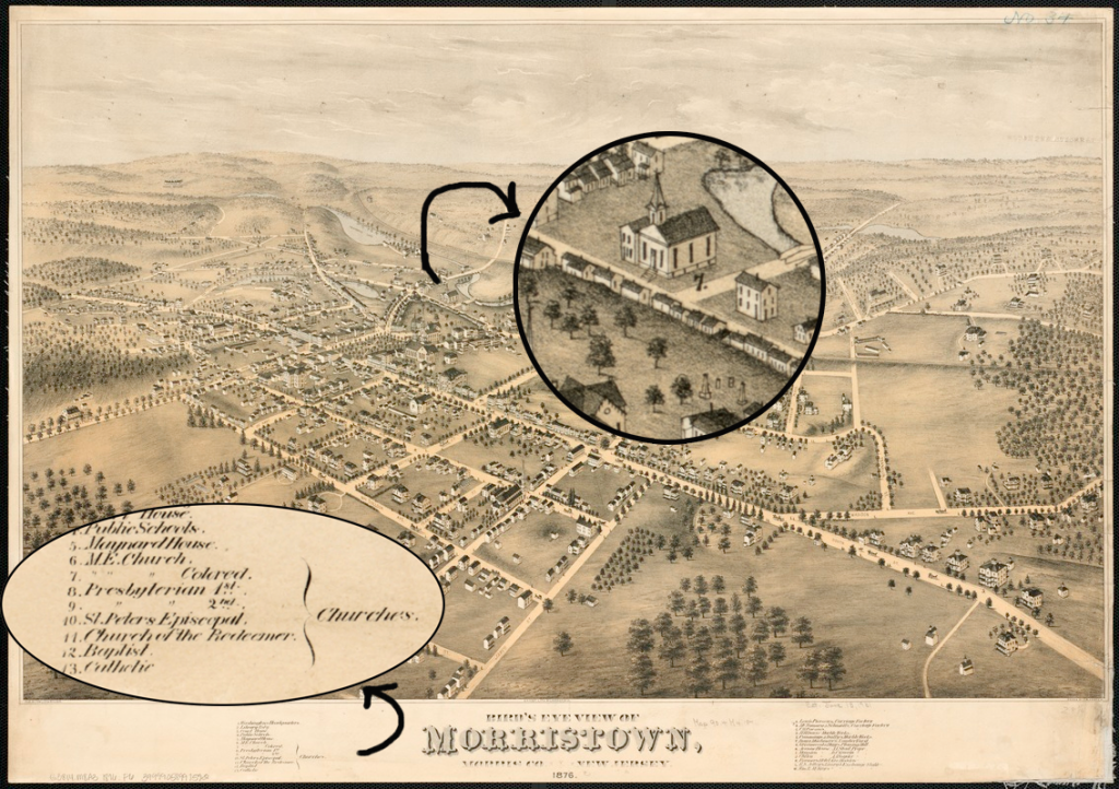 1876 Morristown showing AME Church