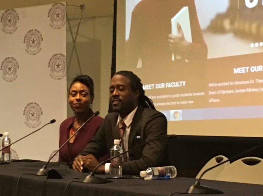 Christa Stoneham and Antoine Bryant at the 2018 Preserving Communities of Color Conference